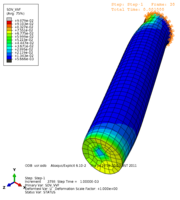 rod, shear+tension, displacement control, elasto-plastic, isotropic hardening, VUMAT, void volume fraction